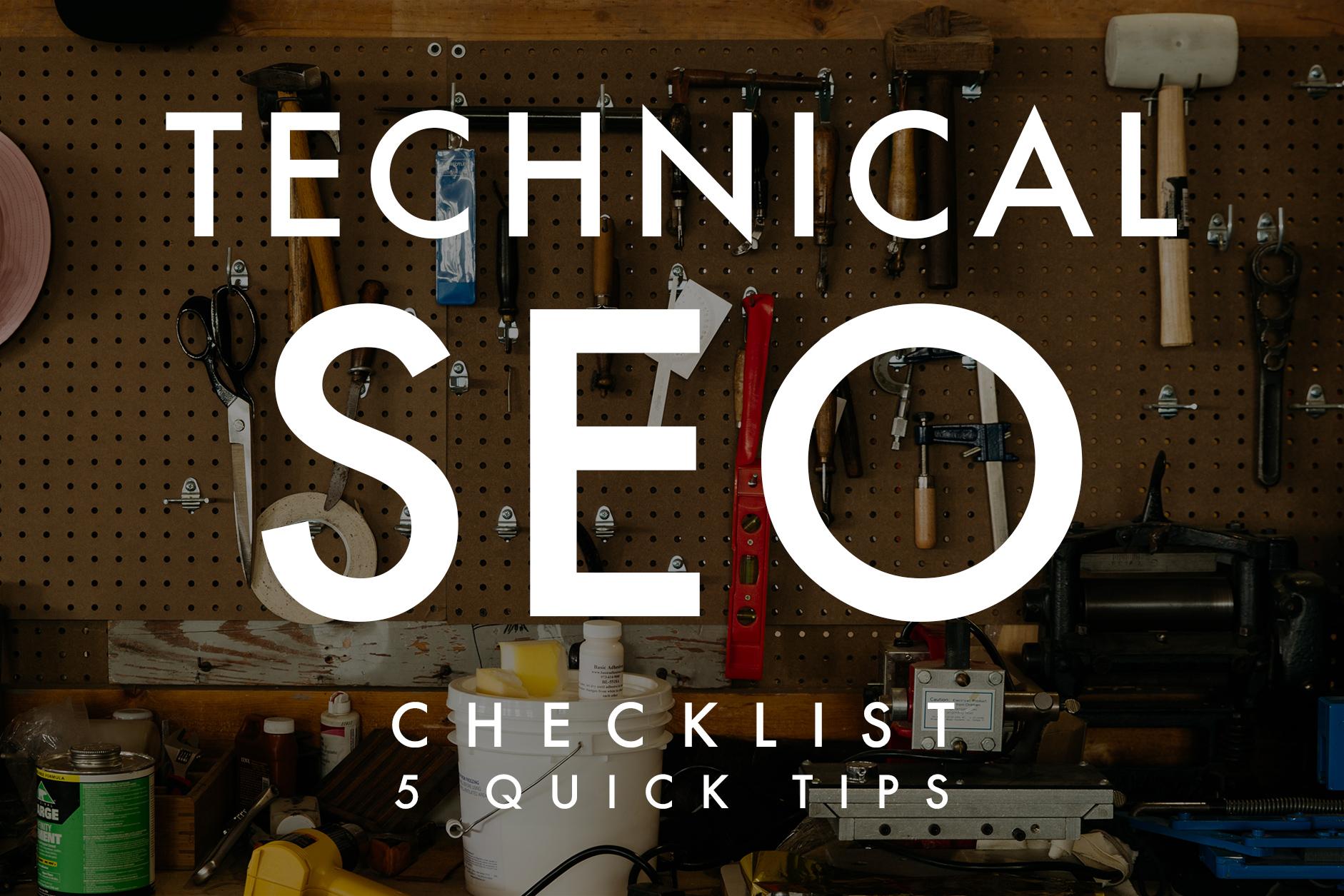 technical SEO checklist banner