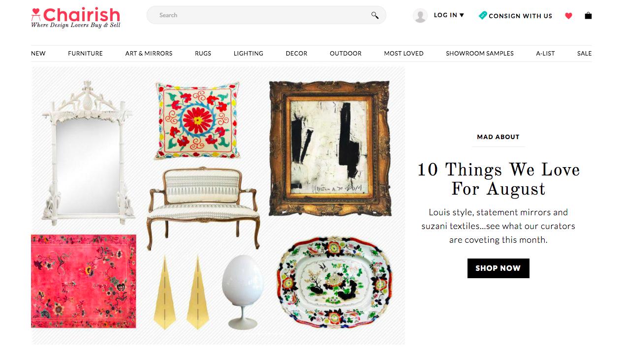 Chairish Website Example