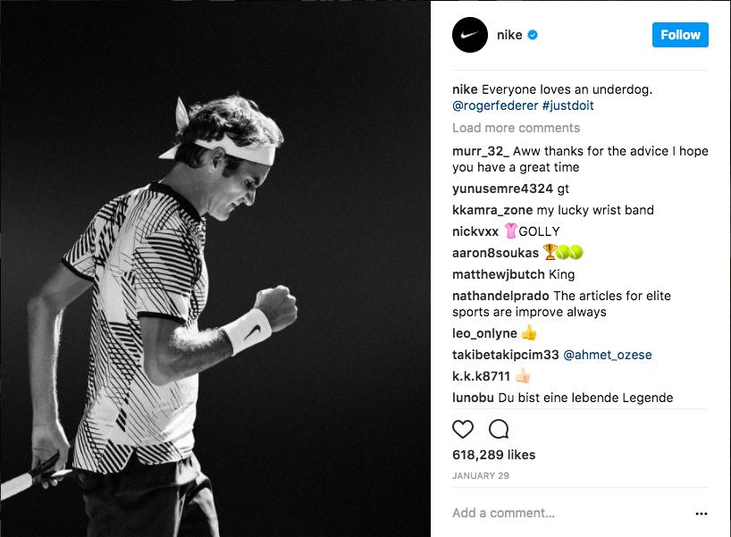 Nike Instagram Screenshot
