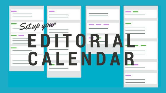 Editorial Calendar Graphic