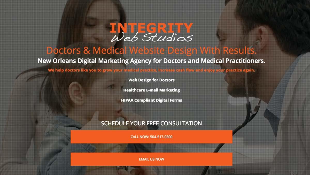 Integrity Web Studios Medical Professional Verticals