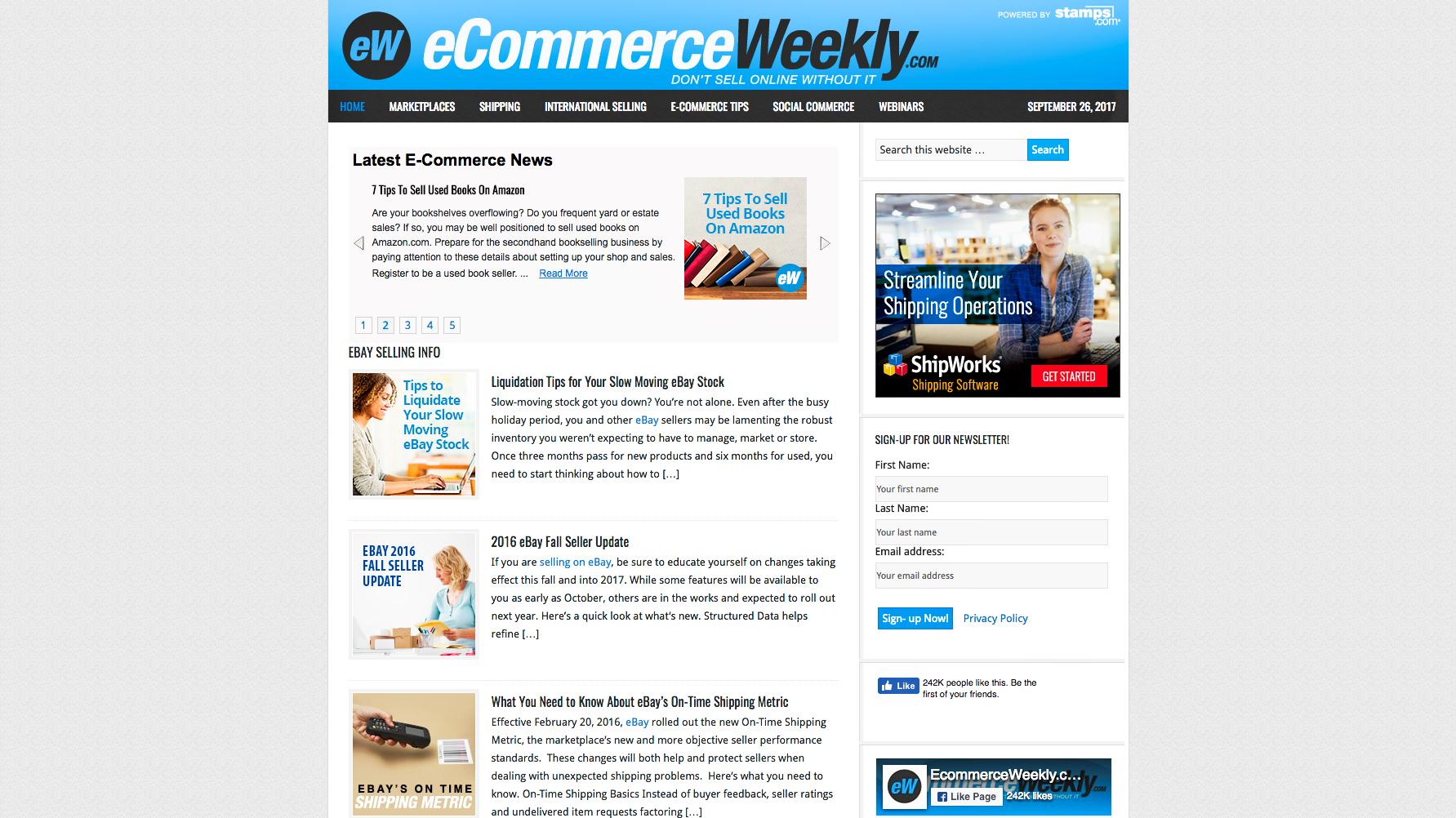 ecommerce weekly