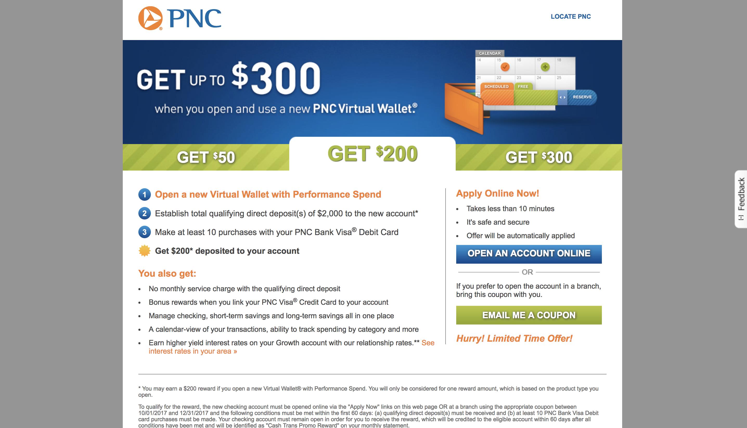 PNC bank screenshot