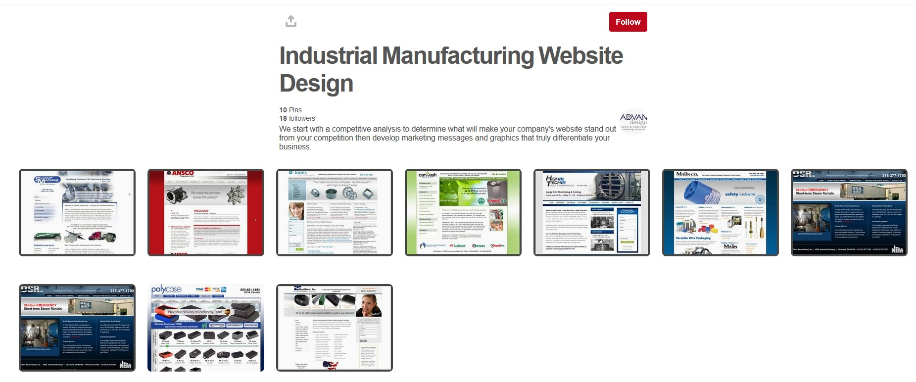 web portfolios example