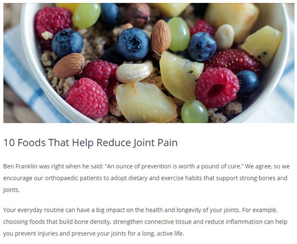 Reduce Joint Pain