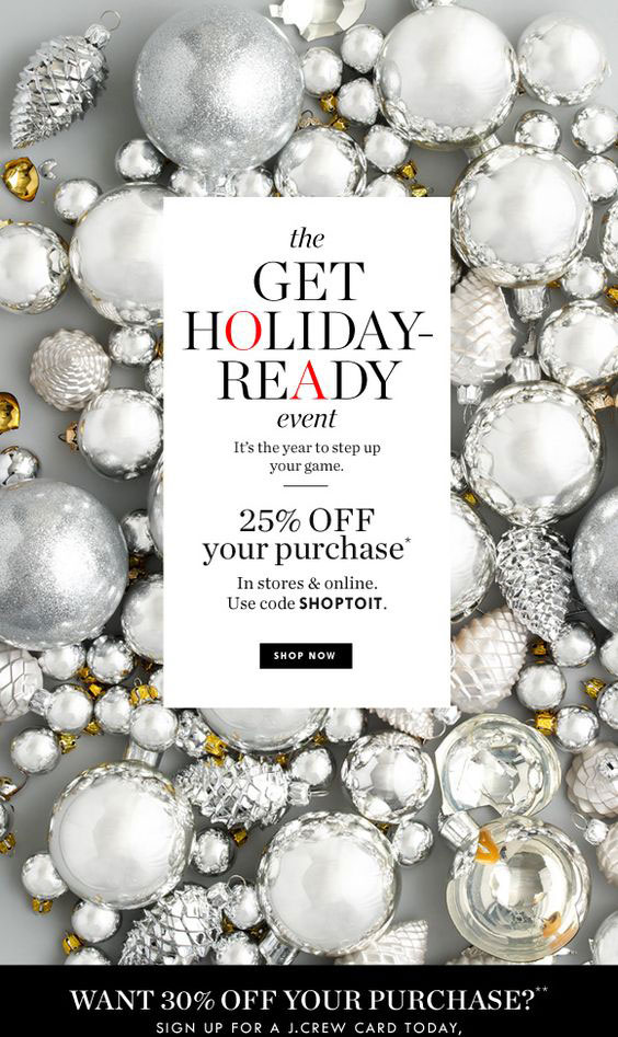 Holiday Email J Crew