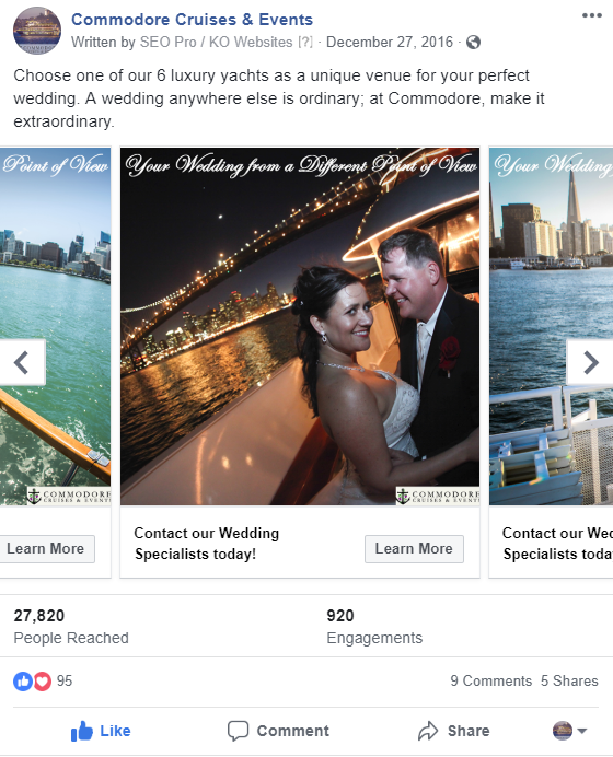 Small Budget Facebook Ad Example
