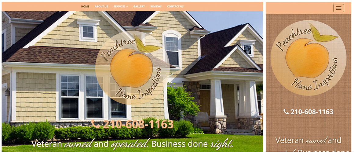 Peachtree Home Inspections Responsive Website