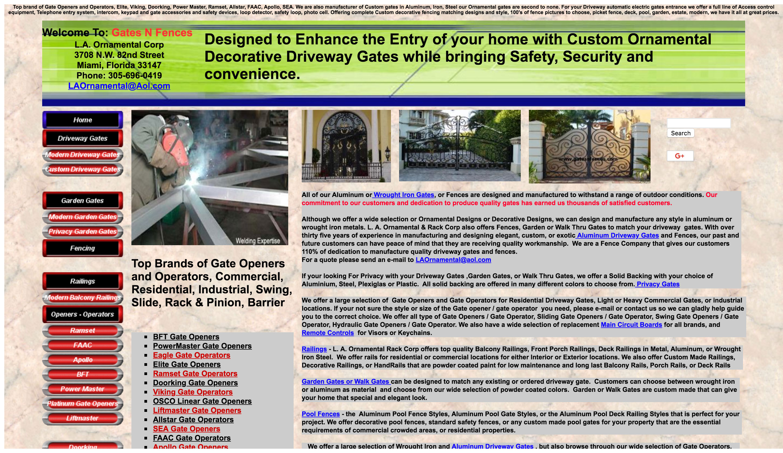 Bad Website Example