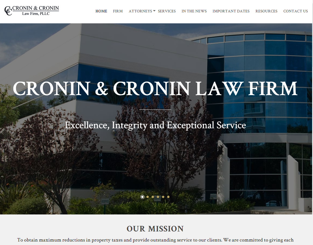 Cronin & Cronin Law Firm Example