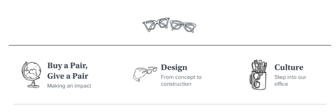 Warby Parker example