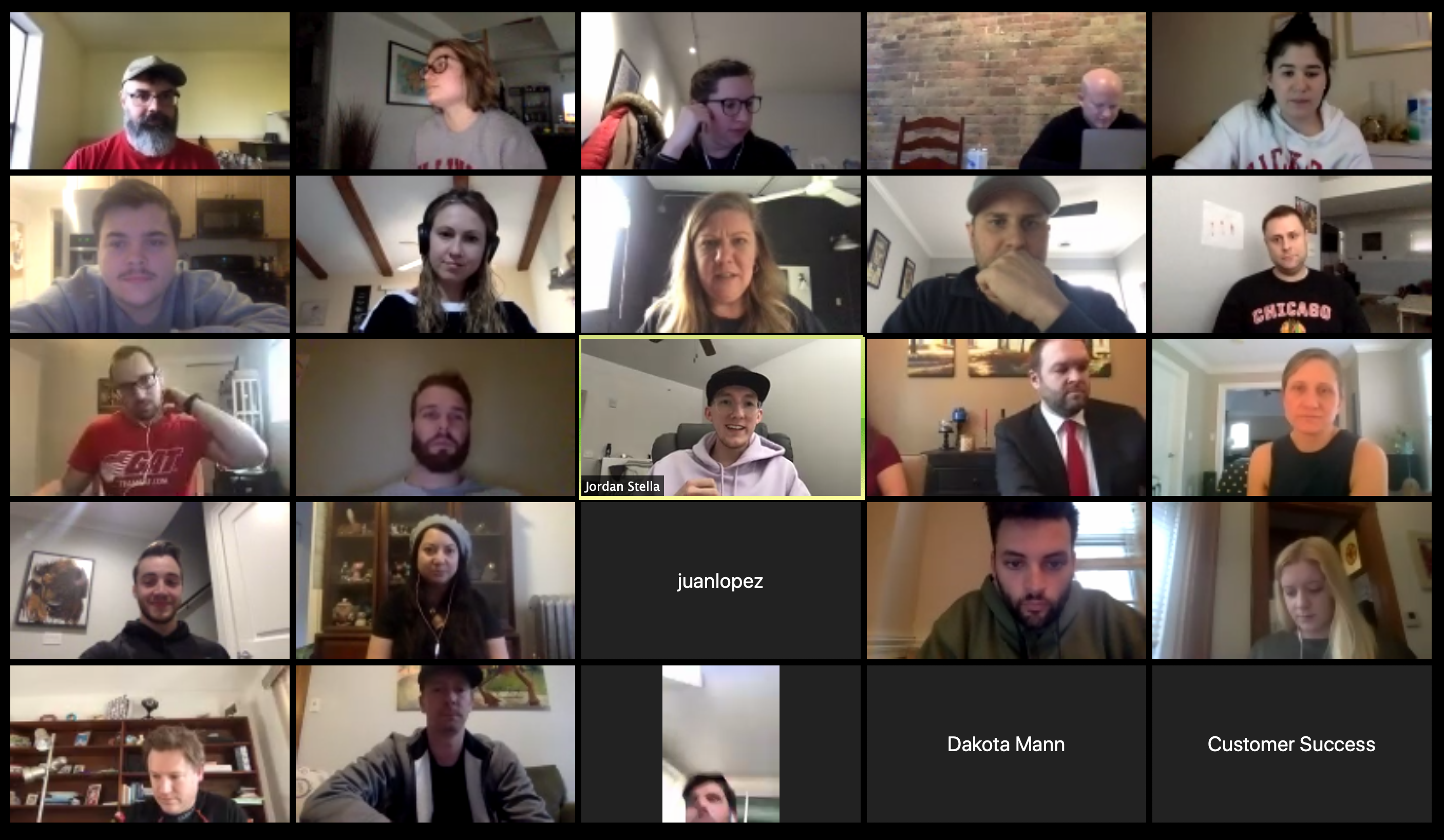 Virtual happy hours are a great way for your entire team to reconnect and decompress.