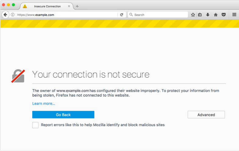 No SSL Certificate