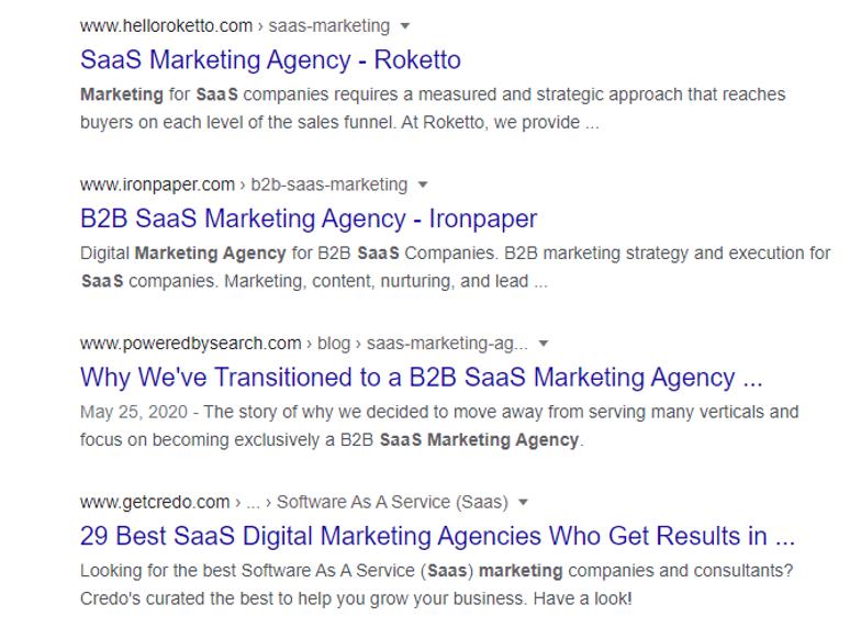 SaaS Marketing Agency Rankings