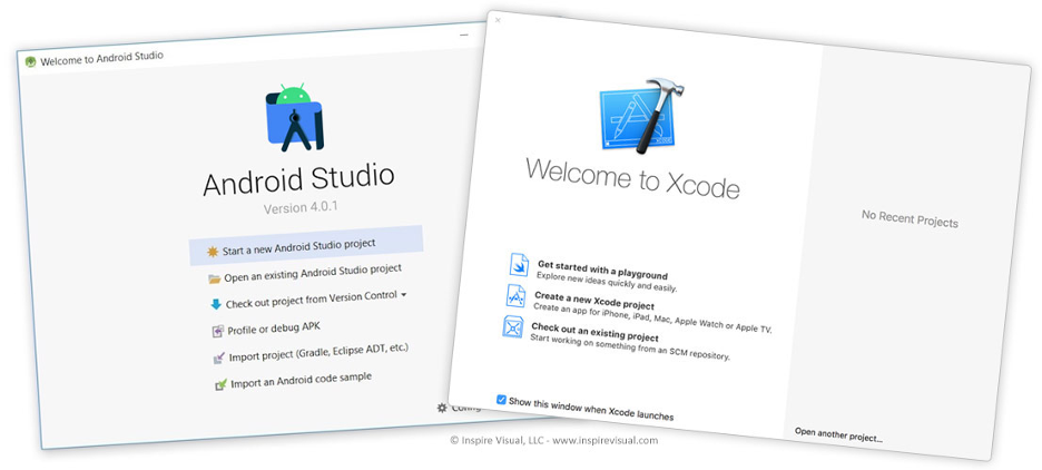 Android Studio and Xcode